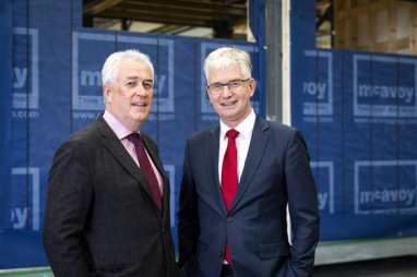 The McAvoy Group chief executive Eugene Lynch, right, and new managing director Mark Lowry