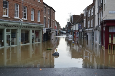 The effects of flooding in York last year.