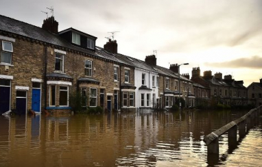Flooding in York, one of three areas to receive £700,000 to help make homes more flood resilient.