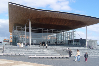 The National Assembly for Wales building in Cardiff.