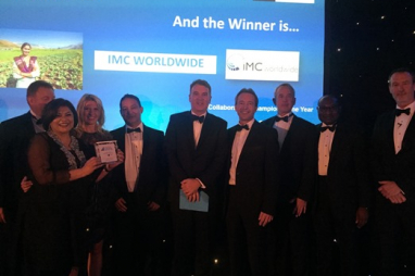 IMC Worldwide picking up one of their Consultancy and Engineering Awards.