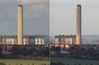 Before and after images of Didcot by former power station employee Nigel Brady.