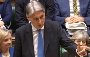 Chancellor Philip Hammond delivering his spring statement in the House of Commons.