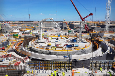 Delays and cost increases for the construction of Hinkley Point C are putting a break on construction growth.
