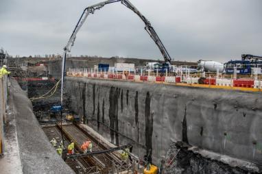 Hinkley concrete pour