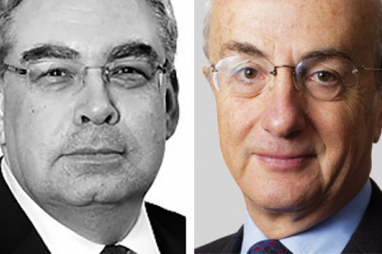 Balfour Beatty chairman Steve Marshall and Carillion chairman Philip Green