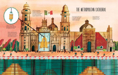 The Metropolitan Cathedral in Mexico City is one of the structures featured in Roma Agrawal's new book.
