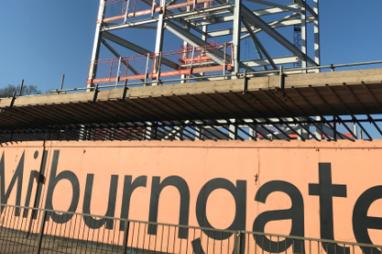 A building site in Durham.