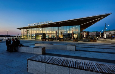 The Stenpiren Travel Centre in Gothenburg, which accommodates 15,000 pedestrians and bicycles each day.