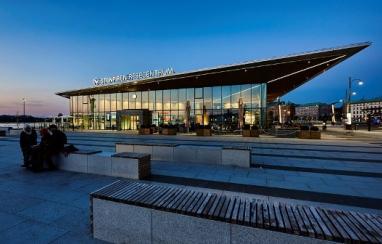 The Stenpiren Travel Centre in Gothenburg, which accommodates 15,000 pedestrians and bicycles each day.