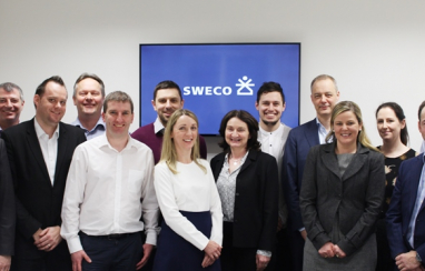 Some of Sweco's team in Cork.