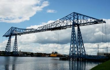 Symbol of Teesside, the Transporter Bridge in Middlesbrough.