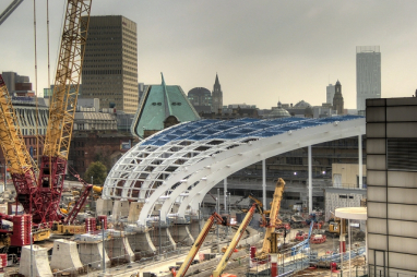Manchester Victoria station redevelopment - construction output has increased by 30.7% in the north west.
