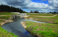 Chapelton Dam was opened in August 2009, a week later it saved hundreds of properties from flooding when 90mm of rain fell in 30 hours.