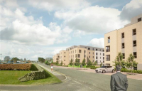 CGI of Aberdeen's proposed Wellheads Road development.