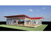 CGI of an Arcadis modular pop-up facility.