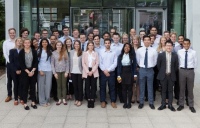 Some of the apprentices that Arup has welcomed to its Midlands campus.