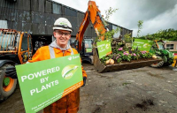 PlantPower! Andy Brown of BAM, who have adopted plant-based fuels to help slash UK carbon emissions.
