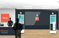 BECG has developed a consultation platform that allows a person to move around a virtual room online.