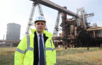 Tees Valley mayor Ben Houchen at the former Redcar steelworks site, where £150m demolition contracts are now open for tender.