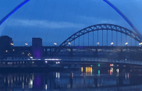 Newcastle's bridges at night. PHOTO: zelie@catalyze.biz