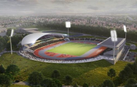 Artist impression of the proposed 2022 Commonwealth Games stadium.