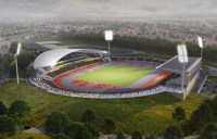CGI of the proposed 2022 Commonwealth Games Stadium.