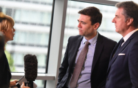 Greater Manchester mayor Andy Burnham and his Liverpool city region counterpart, Steve Rotheram.