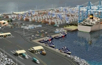 The port terminal de Contenedores de Moín, which will be one of the region's largest when complete.