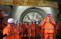Crossrail - Prime Minister and Mayor of London celebrate completion of Crossrail's tunnelling marathon