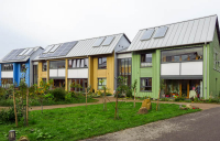 The community-led East Whins ecovillage (pictured), near Forres, has been highlighted as a positive social example by the CLF as it called for a radical rethink of the supply chain to help tackle net zero and material shortages.