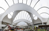 Final days of work on the Birmingham New Street passenger concourse