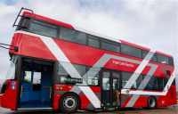 Hydrogen double decker bus prototype. Photo courtesy of TfL.