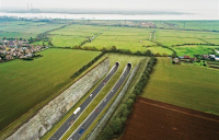 CGI of how the Lower Thames Crossing will look when complete.