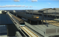 CGI of planned new track and platform after £69m DfT funding confirmed for Oxford railway station.