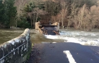 Pooley Bridge in Penrith destroyed by flooding: Image courtesy of Sharrow Bay Hotel