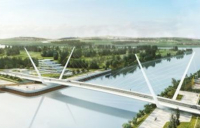 CGI of how the new River Clyde bridge will look when completed.