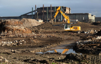 The former steelworks site on Teesside - one of many regional projects in the pipeline in the UK.