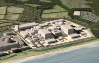 CGI of the proposed new Sizewell C nuclear power station.