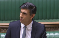 Chancellor of the exchequer, Rishi Sunak, delivering his budget in the House of Commons.
