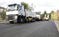 Tarmac's recycled rubber asphalt used for the first time in West Yorkshire.