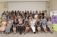 The Top 50 Women in Engineering pictured at an International Women in Engineering Day afternoon tea event in London.