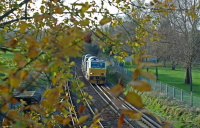 A multi-purpose vehicle for seasonal railway treatment.