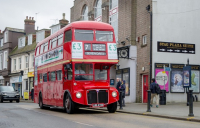 The Sevenoaks vintage bus, one of the shortlisted projects in the Transport Planning Society's People's Award.