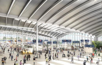 CGI of HS2's Old Oak Common Station.