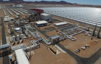 The Xina concentrated solar power plant in Pofadder, South Africa.