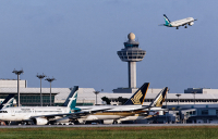 Singapore Changi Airport, where Royal HaskoningDHV company NACO carried out a climate change resilience study.