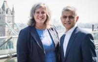 Heidi Alexander pictured with London mayor Sadiq Khan.
