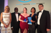 Diamond Award winner Charlotte Jones being presented with her award at the Consultancy and Engineering Awards in London on 6 June 2018.