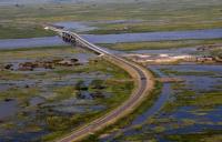 The Sioma bridge across the Zambezi in Zambia's Western Province.
